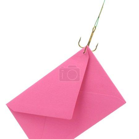 Photo pour Une lettre de rosa est de rattraper un cuisinier de pêche - image libre de droit