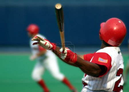 Photo pour Frappeur droitier de baseball, correction sélective - image libre de droit