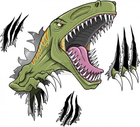 Velociraptor Dinosaur Vector Illustration