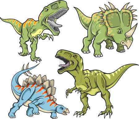 Dinosaur Vector Design Elements Illustration Set