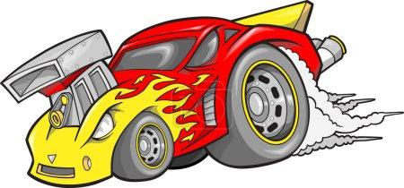 Hot-Rod Race-Car Vector Illustration