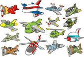 Aircraft Set Vector Illustration