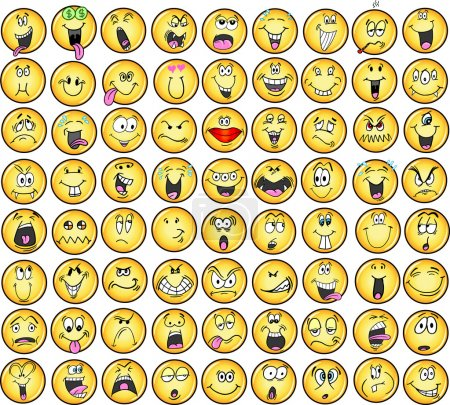 Illustration for Emoticons emotion Icon Vectors - Royalty Free Image