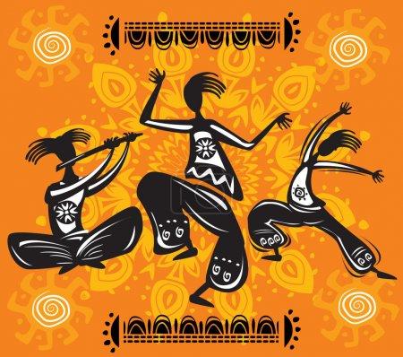 Illustration pour Figures dansantes - image libre de droit