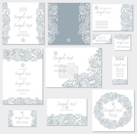 Illustration for Vector template for wedding cards - Royalty Free Image