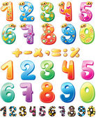 Colorful children numbers