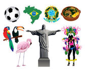 Vector Illustration of several Brazilian icons and symbols