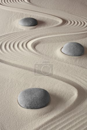 Spa treatment concept japanese zen garden tao budd...