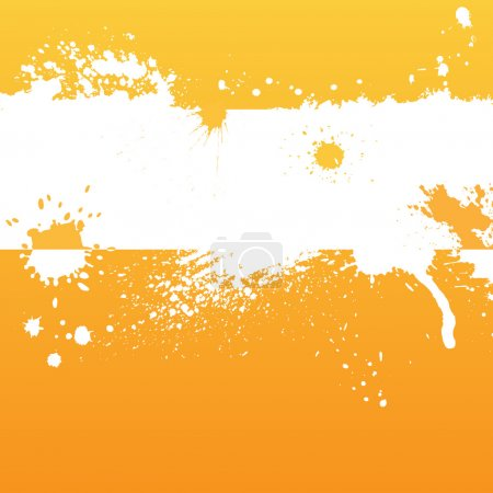 Illustration for Orange background with blots and place for text - Royalty Free Image