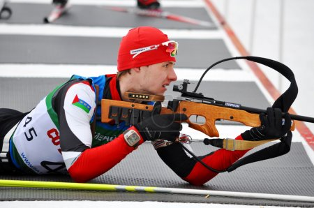 Cup of Russia on biathlon in Sochi on February 10, 2012.