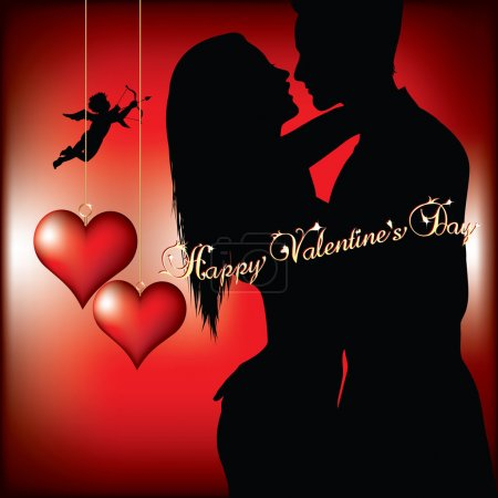 Illustration for Valentines day background vector illustration - Royalty Free Image