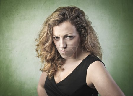 Photo for Portrait of a young woman with angry expression - Royalty Free Image