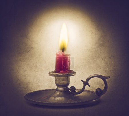 Photo for Candle glowing in the dark - Royalty Free Image