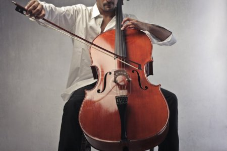 Photo for Closeup of a musician playing the cello - Royalty Free Image