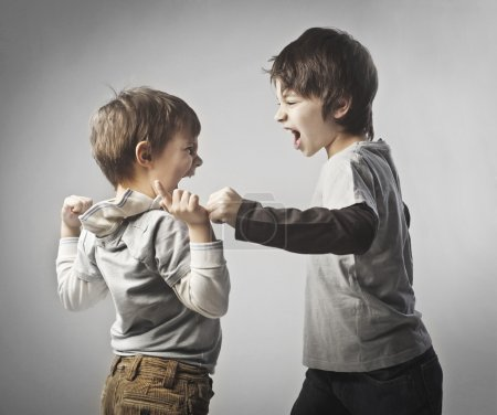 Fighting siblings