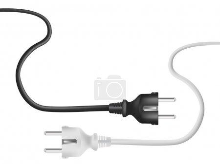 Illustration pour Câble électrique - image libre de droit