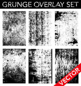 Vector Grunge Overlay Set Simply place texture over any object to create a distressed effect