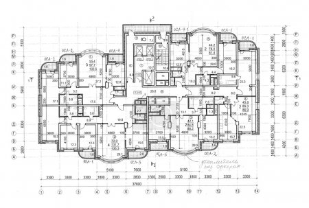 Floor architectural construction plan