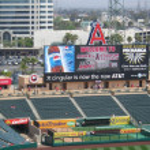 Sunny Day at Anaheim Stadium, home of the baseball...