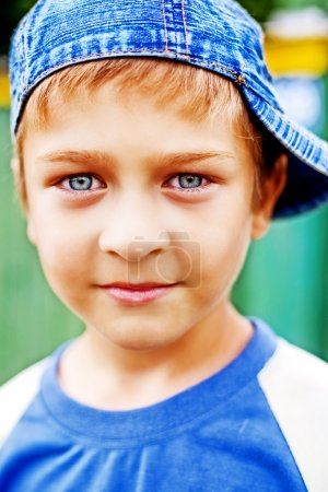 Photo for Cute kid with beautiful blue eyes - Royalty Free Image