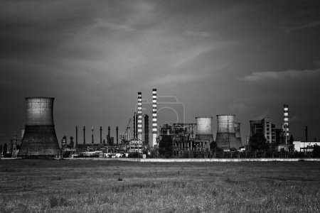 Dark toxic industrial chemical site