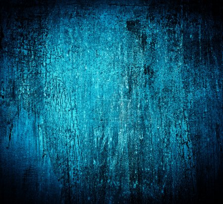 Photo for Blue abstract textured cracked grungy design backdrop - Royalty Free Image