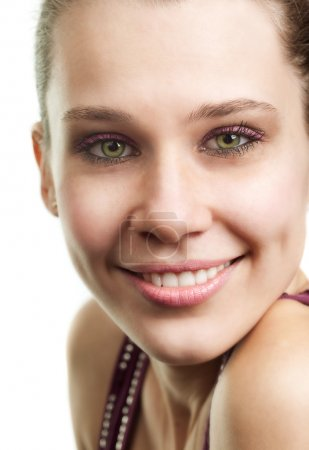 Face of happy woman with beautiful smile