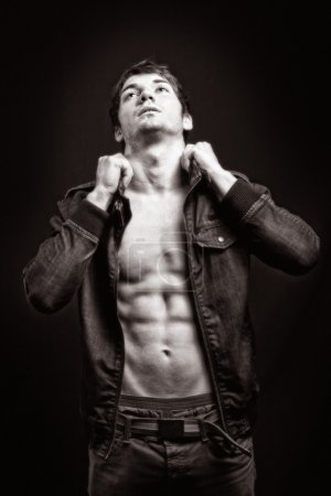 Photo for Fashion shot of man with sexy abdomen - Royalty Free Image