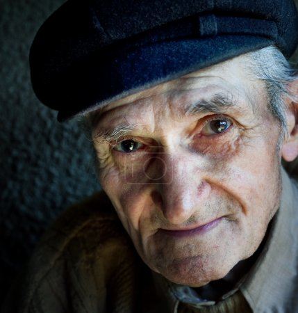 Photo for Artistic portrait of friendly senior old male - Royalty Free Image
