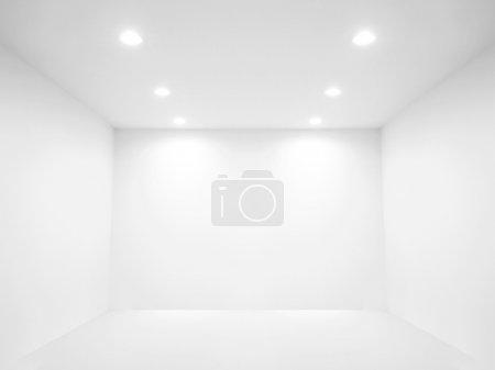 Photo pour Projecteur et mur vide dans une pièce vide - image libre de droit