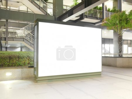 Photo for Blank billboard in modern building - Royalty Free Image