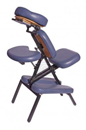 Photo pour Fauteuil de massage isolé sur fond blanc - image libre de droit