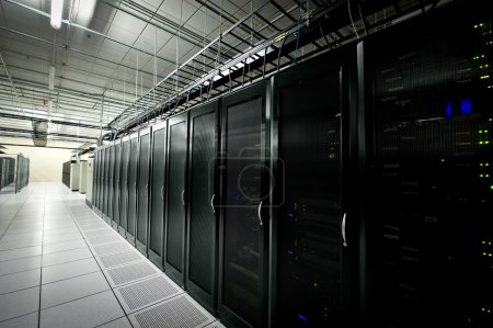 Photo for Interior view of a data center with equipment - Royalty Free Image