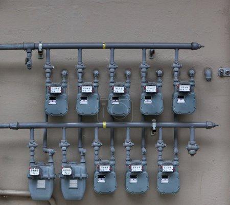 Ten Gas Meters
