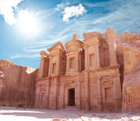 Photo for The monastery in world wonder Petra, Jordan - Royalty Free Image