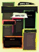 Creative abstract grunge modern design website template