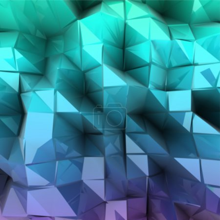 Blue triangle abstract. Vector background