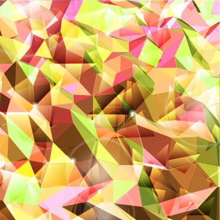 Illustration pour Contexte abstrait. Combinaison de triangle. Illustration vectorielle - image libre de droit