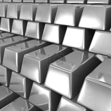 Silver bars. Vector