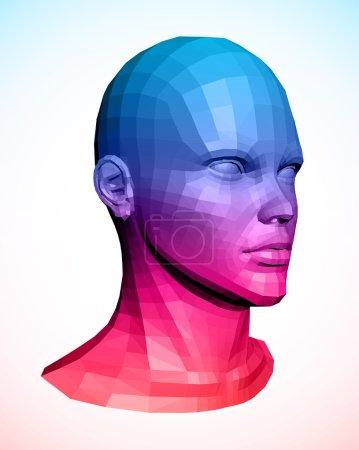 Human head. Abstract vector illustration