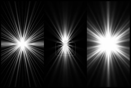 Set Black and White Lighting background. Vector