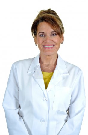 Photo for An Attractive Woman Wearing a Lab Coat - Royalty Free Image