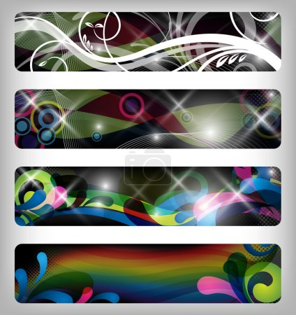 Photo for Four abstract and colorful banners - Royalty Free Image