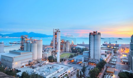 Cement Plant,Concrete or cement factory, heavy industry or const