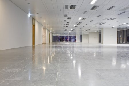 Modern hall in building