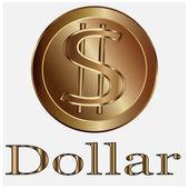 Dollar coins vector