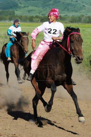 bayga - традиционные Кочевник лошади гонки