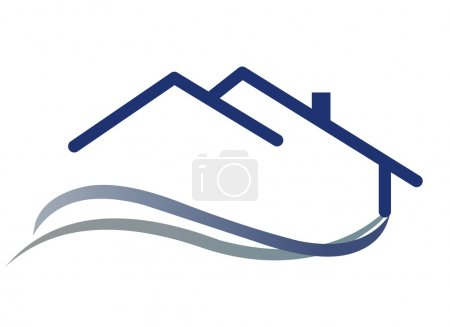Illustration for House Logo - Royalty Free Image
