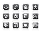 Letiště, cestování a doprava ikony 1