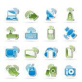 Ikony bezdrátové sítě a technologie